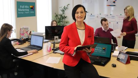 Sarah West, managing director of Full Mix Marketing and her team, based in Cringleford. Pic: www.ful