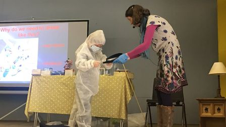 The DNA workshop run by Mandy Hartley at Old Buckenham Village Hall. Picture: Jonathan Hartley