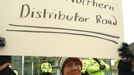 Norwich Green group leader Denise Carlo protested against original plans for the NDR in 2006 PICTUR