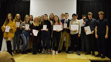 Former Dereham Sixth Form College students at a presentation evening. Picture: DSFC