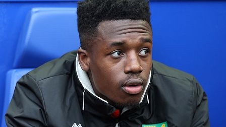 Timi Odusina was on the bench for Norwich at Sheffield Wednesday earlier this season Picture: Paul C