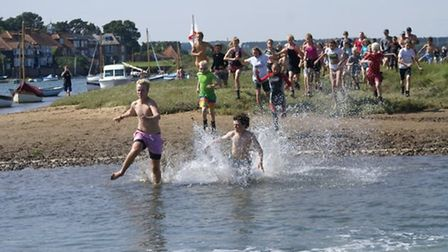 Local water sports activities are held on the marsh areas of Burnham Overy Staithe Credit: Holly Smi