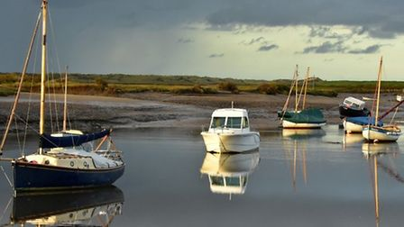 Marsh and Overy Creak channel at Burnham Overy Staithe Credit: Lorraine Clayton