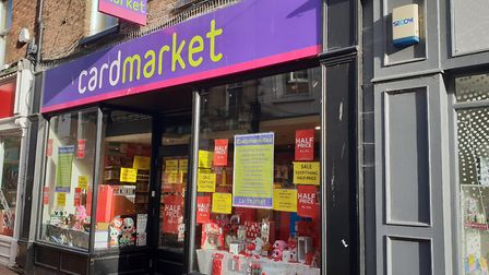 Card Market on Lynn High Street in next in line to close down. Photo: Emily Prince