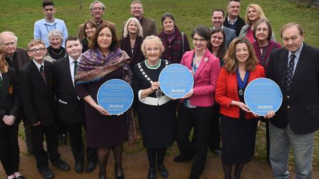 Launch of the new Broadland District Council Blue Plaque Scheme at Hayman Lodge in Catton Park. Pict