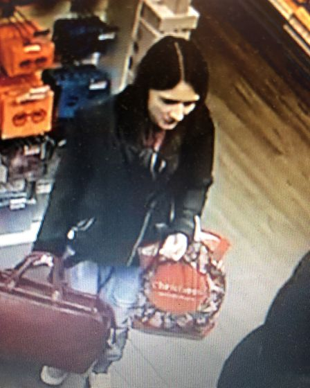 If anyone recognises this women is call 101, police would like to speak with her. Photo: Norfolk Con