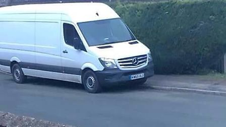 """Luke Morfitt from Beccles said """"he has had better days"""" after his van was taken from the outside of"""