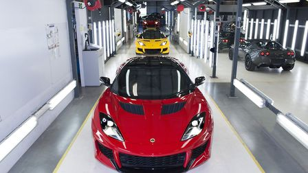 The Lotus production line at the company's factory at Hethel, Norfolk. Picture: Lotus.