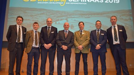 Frontier Agriculture managing director Mark Aitchison (centre) with other speakers at the 3D Thinkin
