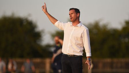 It was another tough afternoon from Dereham manager Neal Simmons Picture: Archant