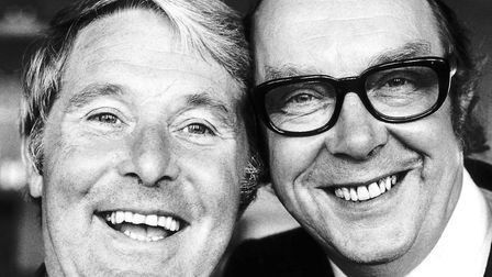 Morecambe Wise comedy duo July 1974 (C) mirrorpix