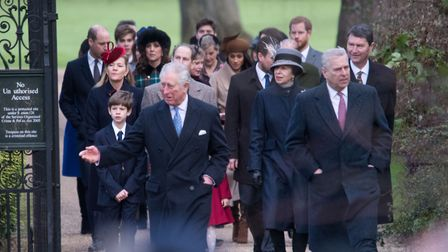 Royal Family members walking to church on Christmas Day Picture: Paul John Bayfield