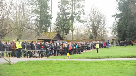Crowds of well-wishers are expected on Christmas Day at Sandringham. Picture: Ian Burt