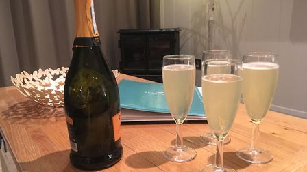 Improvised bellinis at our lodge at Hoseasons The Manor Resort. Picture; Bethany Whymark