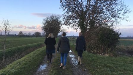 Out for an afternoon walk near Hoseasons The Manor Resort in Lincolnshire. Picture: Bethany Whymark