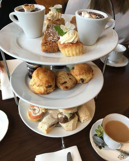 The afternoon tea at Hoseasons The Manor Resort in Lincolnshire. Picture: Bethany Whymark