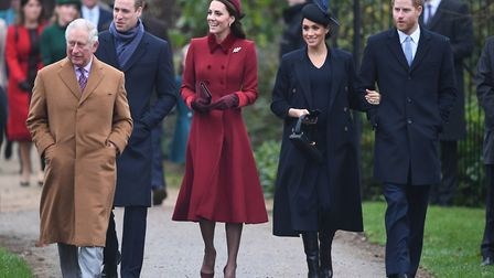 The Prince of Wales, the Duke of Cambridge, the Duchess of Cambridge, the Duchess of Sussex and the