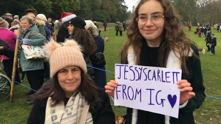 Trudy and Jessica Daniels couldn't believe their luck after speaking to both Duchesses. Photo: Emily