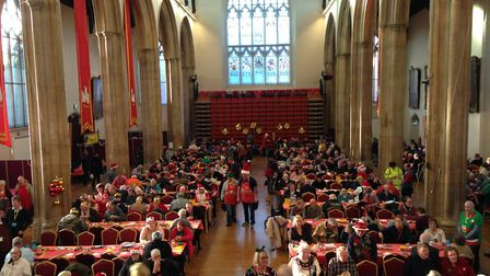 More than 500 people attended the Norwich Open Christmas 2018 event, inlcuding the homeless and the