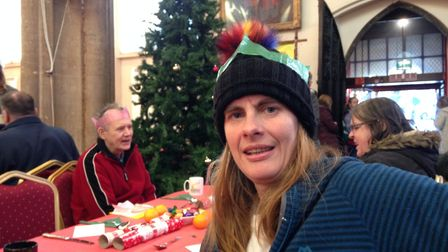 Emmeline Taylor, 44, at the Norwich Open Christmas 2018. Picture: Taz Ali
