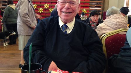 Colin Websdell, 75, at the Norwich Open Christmas 2018. Picture: Taz Ali