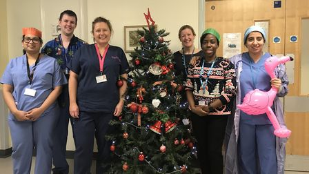 Staff at the Norfolk and Norwich University Hospital's delivery ward. Left-to-right: Sri Sundararaya