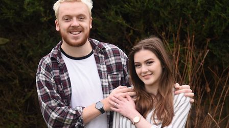 Vlogger Jack Dean with his fiancée Fiona South, after he proposed on Christmas day by his advent cal