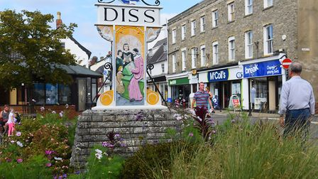Town sign in Diss which has seen the third largest rises in house prices in 2018 according to new fi