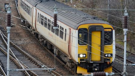 Abellio Greater Anglia trains and carriages at Crown Point. Photo: Steve Adams