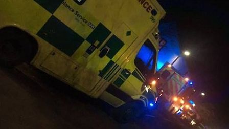 Police and ambulance crews were called after concerns for the welfare of a man at a house near the K