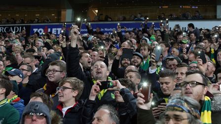 The floodlights fail at Carrow Road Photo: Paul Chesterton/Focus Images