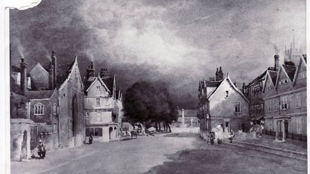 Tombland in Norwich in the 18th century. Picture Archant.