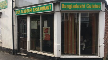 Diss Tandoori has re-opened after being forced to close following a cockroach infestation. Picture: