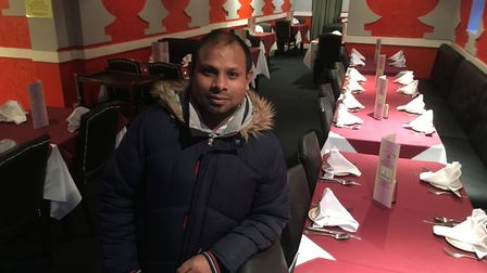 Sahill Shahriya, owner of Diss Tandoori, which has re-opened after being forced to close following a