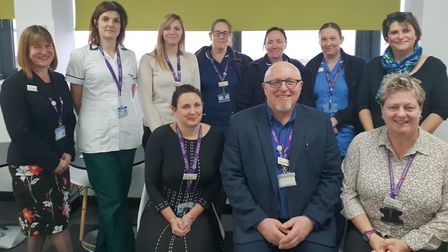 East Coast Community Healthcare staff with operations director Adele Madin (far left) and chief exec