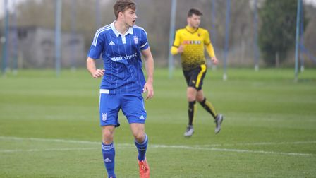 New signing Joe Robinson, in action for Ipswich Under-21s Picture: Archant