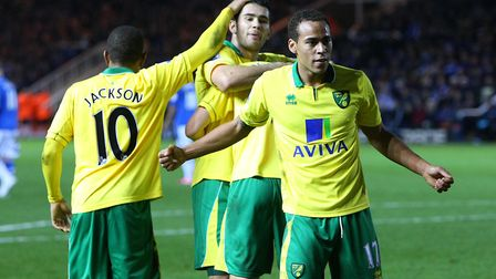 Action from the last time Norwich City won an FA Cup tie - in the third round against Peterborough i