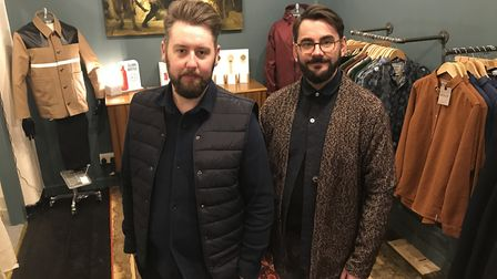 Martin Turner and David Lane who have opened a larger Working Title clothing store in central Norwic