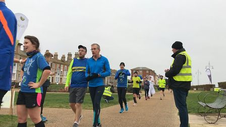 Park runner Andy Trigg, helped raise money and awareness for Crohn's and Colitis UK, by running the