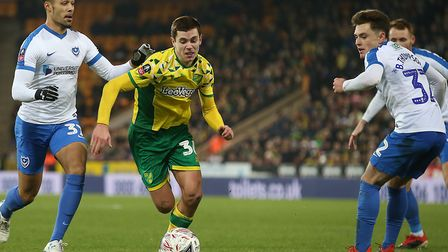 Todd Cantwell impressed again despite Norwich City's FA Cup exit last week against Portsmouth Pictur