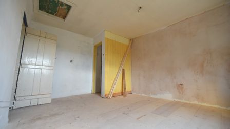 The inside of the house was stripped down but work hasn't been finished. PICTURE: Jamie Honeywood