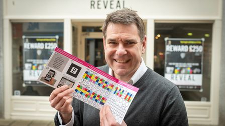 Rob Elwes was the first to crack the code and win £250 from Reveal Picture: Matthew Usher