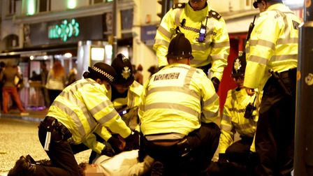 Police in Prince of Wales over a past festive period. PIC: Rob Colman.