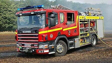Norfolk and Suffolk Fire and Rescue Services were called to a fire at a cow shed in Bungay on Christ
