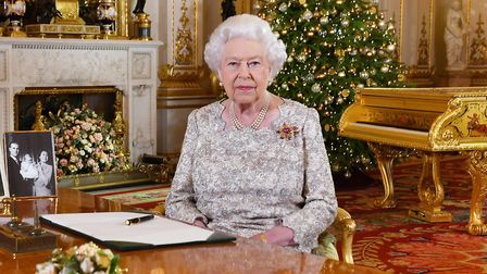 EMBARGOED TO 0001 MONDAY DECEMBER 24, 2018. Queen Elizabeth II after she recorded her annual Christm