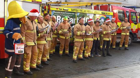 Firefighters from Lowestoft South and North Lowestoft fire stations combined for the annual Christma