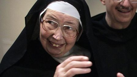 Sister Wendy Beckett visiting the Victoria & Albert museum in London. The art historian and nun who