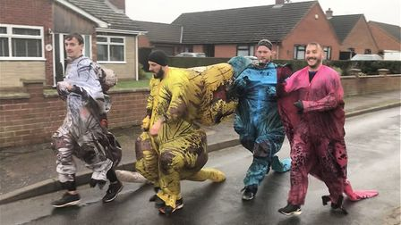 The Boxing Day fancy dress winners Picture: Baz Hipwell