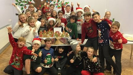 Banham Primary School's Year 5 and 6 Swift Class won the school's Christmas Bake Off competition wit