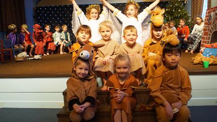 Children at Greshams Nursery and Pre-Prep performed their Christmas Show. Picture: Gresham's School